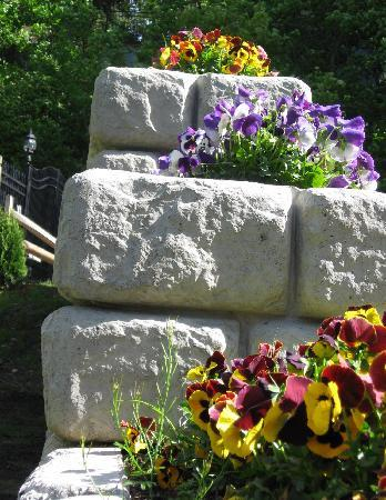 The Mansion at Maple Heights: garden wall detail
