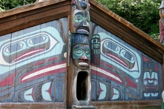 Ketchikan, AK: Native community hut