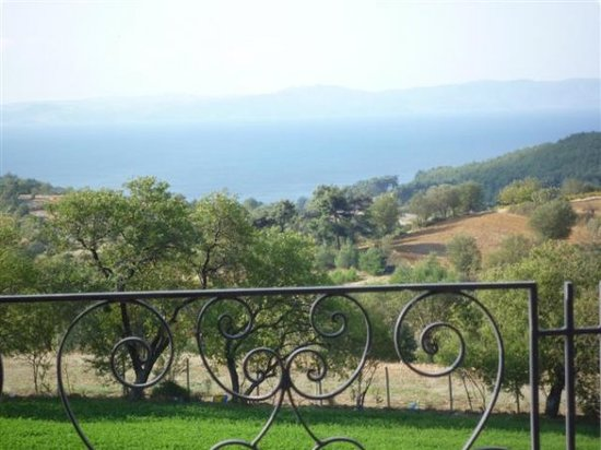 Tekirdag, Turkey: View across Aegean to Gallipoli from Isan's back verandah.