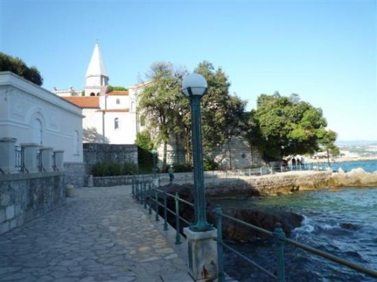 Opatija walkway along Adriatic