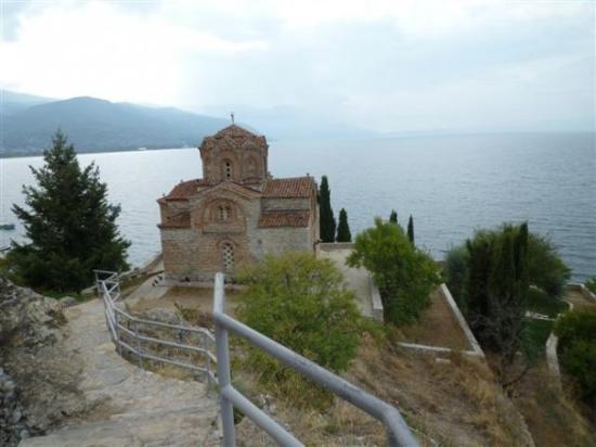Ohrid, Macédoine : St John Kaneo church (Sv Jovan Kaneo)