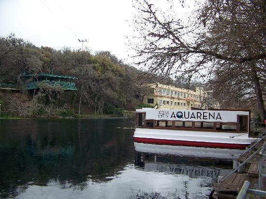 Aquarena boat tours to view the San Marcos River and springs
