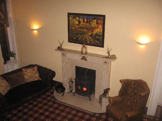Ffarm Country House: Hall fireplace