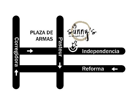 Sunny's All English Cafe : map