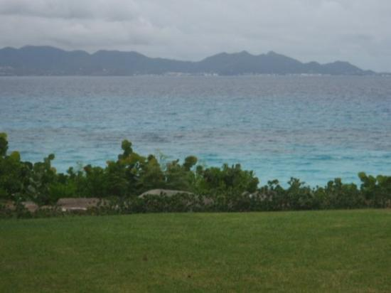 The Valley, Anguilla: View of St Maarten at the Temenos Golf course
