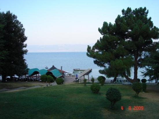 The view from our room in Ohrid