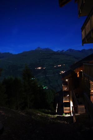 Chalet Joie de Vie: View from our window at night