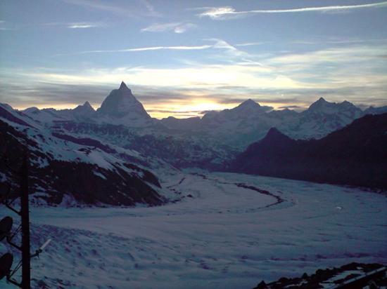 Coucher de soleil sur le Matterhorn.