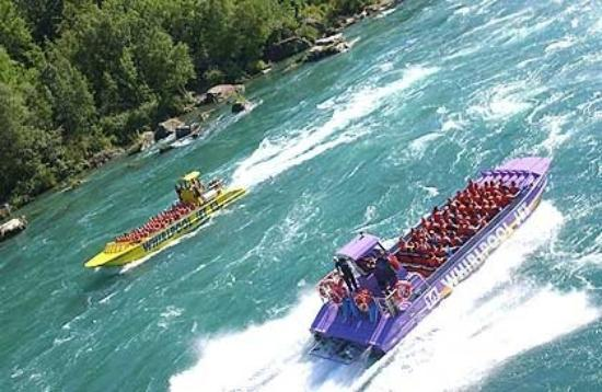 Whirlpool Jet Boat Tours: Kids talked us into going on this Whirlpool Jet boat.  Once we got on it, we were just wet the w