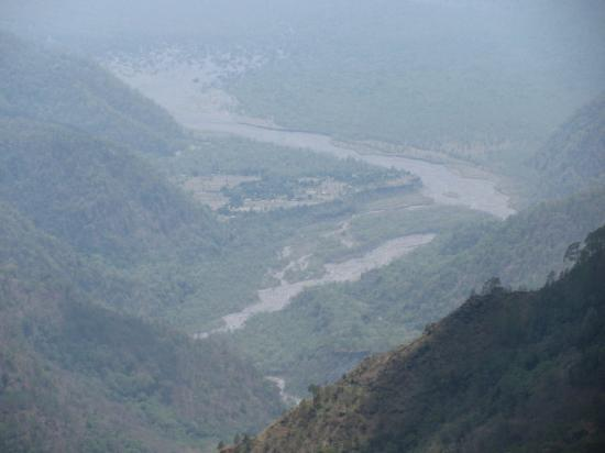 Nainital Hill Station - Bike Rental services: River seen from the Naina peak