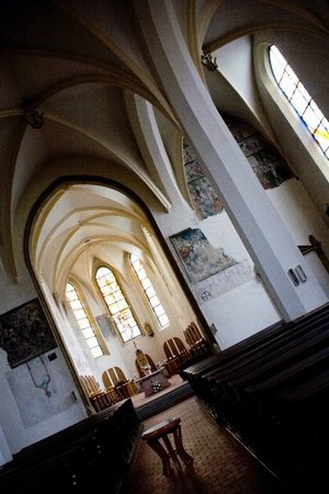 Olomouc, Tjekkiet: Church of The Immaculate Conception of The Virgin Mary interior.