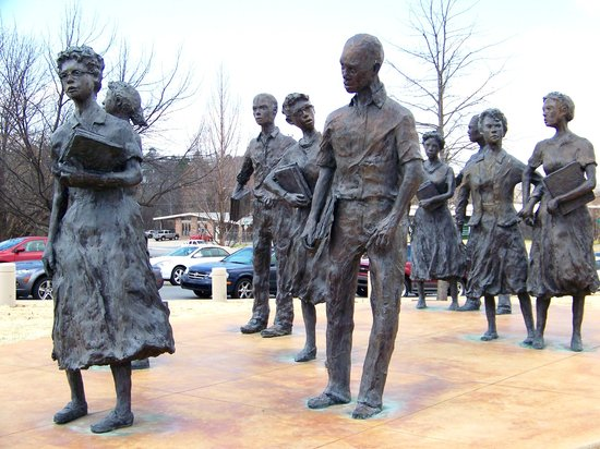 Arkansas State Capitol: the Little Rock Nine monument
