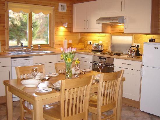 Dalshian Chalets: Kitchen in Moraig Lodge