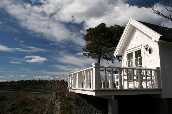 Langesund Bad: Kleine Cottages kann man ebenfalls mieten