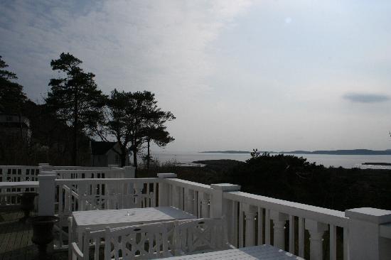 Langesund Bad: Blick von der Veranda
