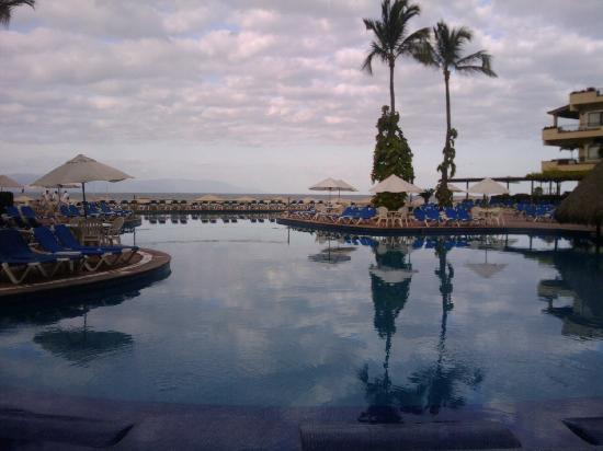 Morning at the pool