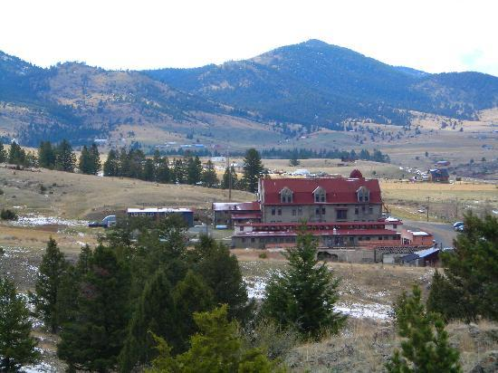 Boulder Hot Springs Inn and Spa: View from the hills above.