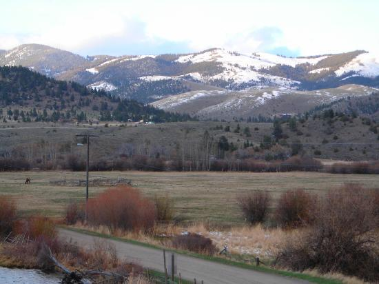 Boulder, MT: View from the front of the Inn.