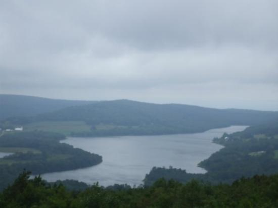 Fort Hill, Pensilvania: Here is a picture from the Outlook of the lake Mama Jan lives on