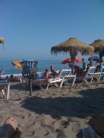 Torremolinos, Spania: Topless lady in Spain!
