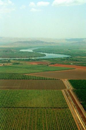 Farmland near Ord river, Kununurra