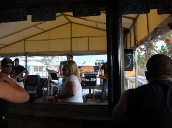 Postcard Inn on the Beach: Band @ PCI...glad they finally set up to play the show!