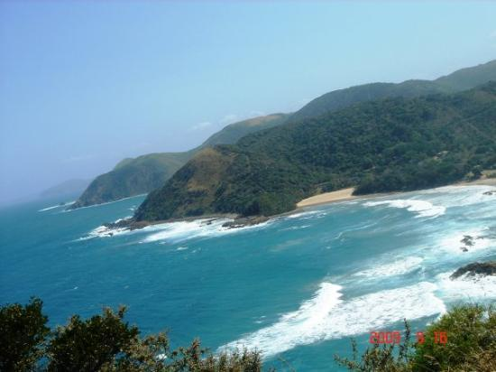 ‪‪Port St Johns‬, جنوب أفريقيا: View of 2nd and 3rd beach from The Gap‬