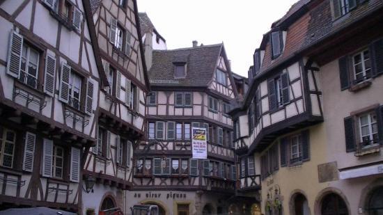 Around the village of Colmar, France.