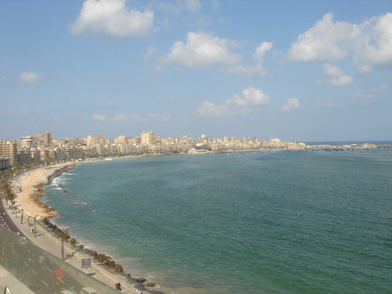 view from the hotel of the corniche (26th july rd)