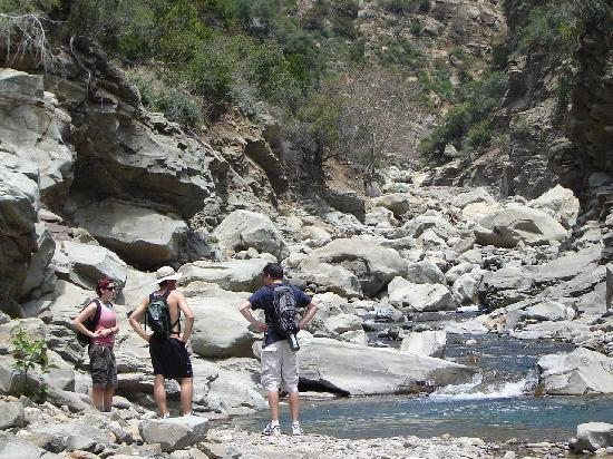 Santa Paula Canyon Falls  / Punch Bowls: The boulders in Santa Paula Canyon