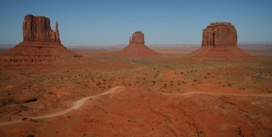 Monument Valley Navajo Tribal Park: The Mittens - afternoon photo