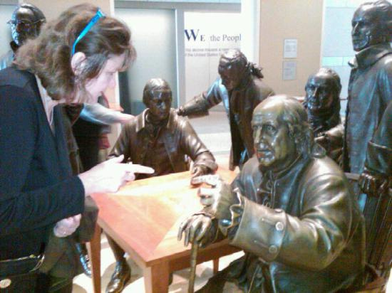 National Constitution Center: Heated discussion with Benjamin Franklin