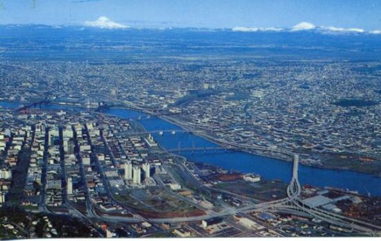 Portland, Oregon  This spectacular view shows the city of