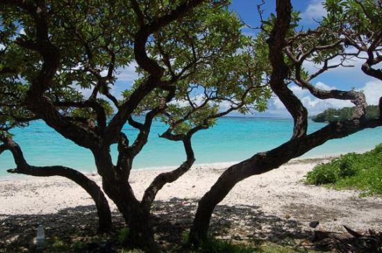 plage de Mü à Lifou