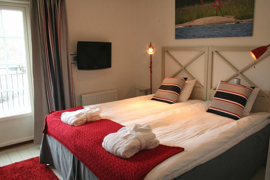 Norrtalje, Sweden: Bedroom interior