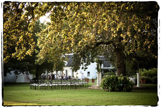 Paarl, South Africa: gazebo ceremony
