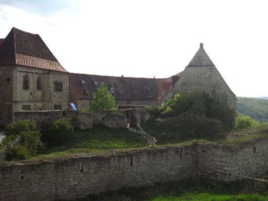Freyburg, Germany: Blick von der Terrasse auf die Burg