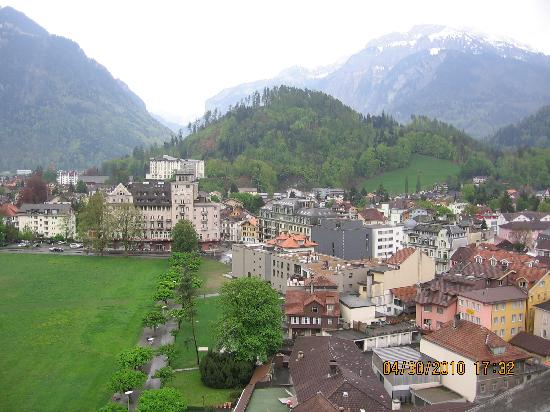 Metropole Hotel Interlaken: the fabulous wiew from our room