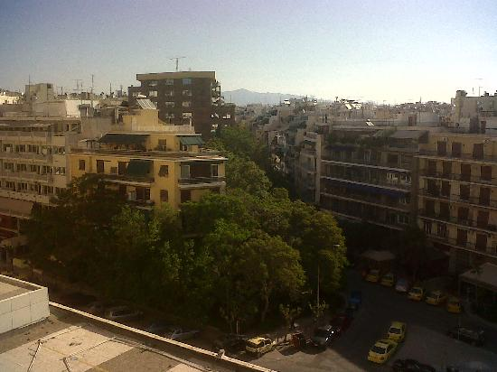 Hilton Athens: view from room 541, marble mountain (pentelikon) in background