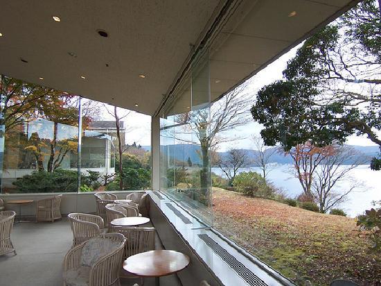 Hakone-en Lakeside Annex: Lobby lounge area