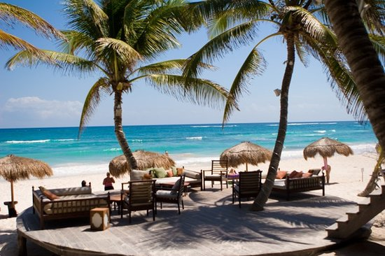 La Zebra Colibri Boutique Hotel: Swaying coco palms and turquoise sea...