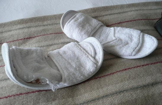 These slippers were left for us to wear!