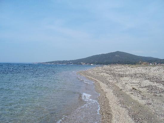 Hotel Melissa: Der Strand von Psakoudia
