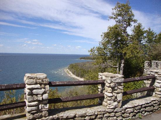 White Gull Inn: View from a lookout in Penninsula State Park