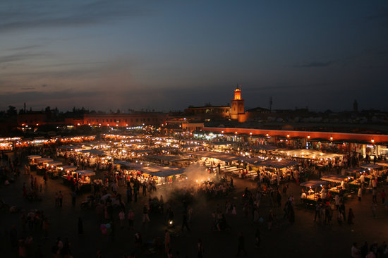 Marrakesh, Marokko: Marrakech view from Cafe Glacier