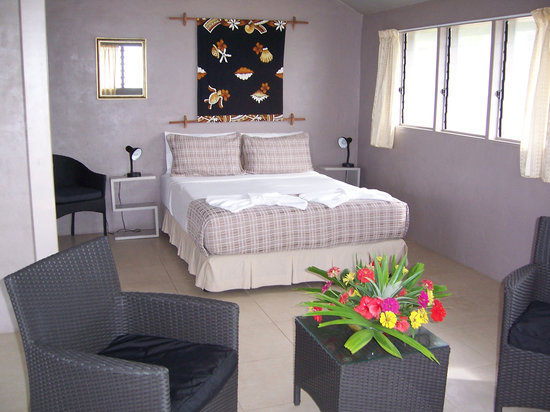 Savaii Lagoon Resort: Interior of superior bungalow