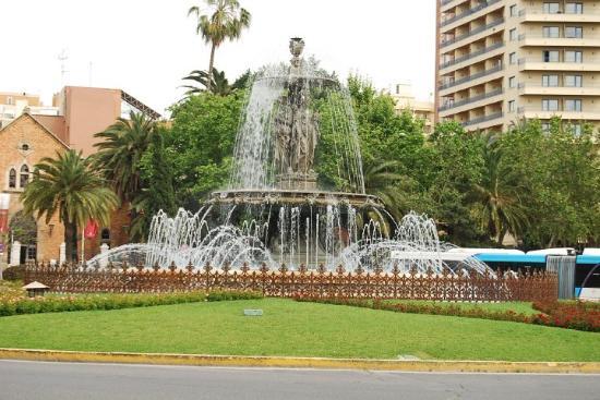 Málaga, España: Malaga. Fontaine de Trois Grâces