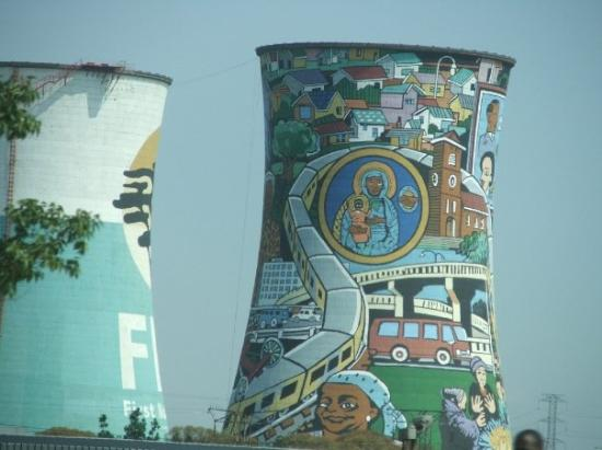 Decorated Cooling towers Soweto