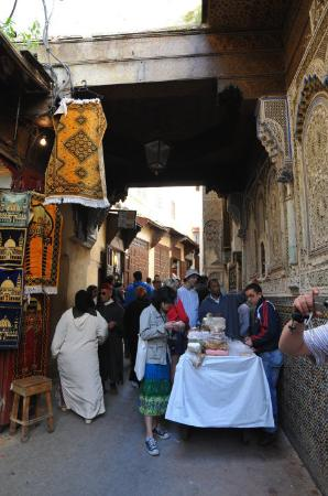 Buying sweets at the souks in Fes