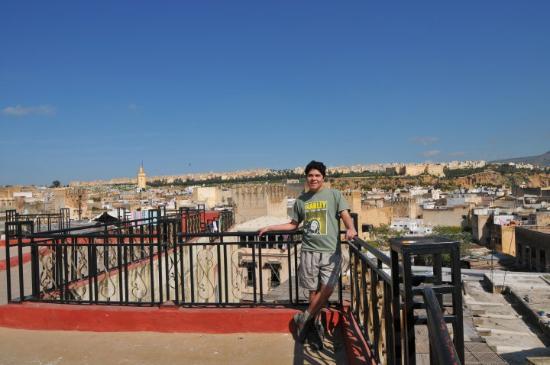 Juan on the hostel's terrace in Fes